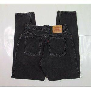 Vtg Levis 550 Women 12 High Waisted Black Mom Jeans Relaxed Tapered Denim 90s